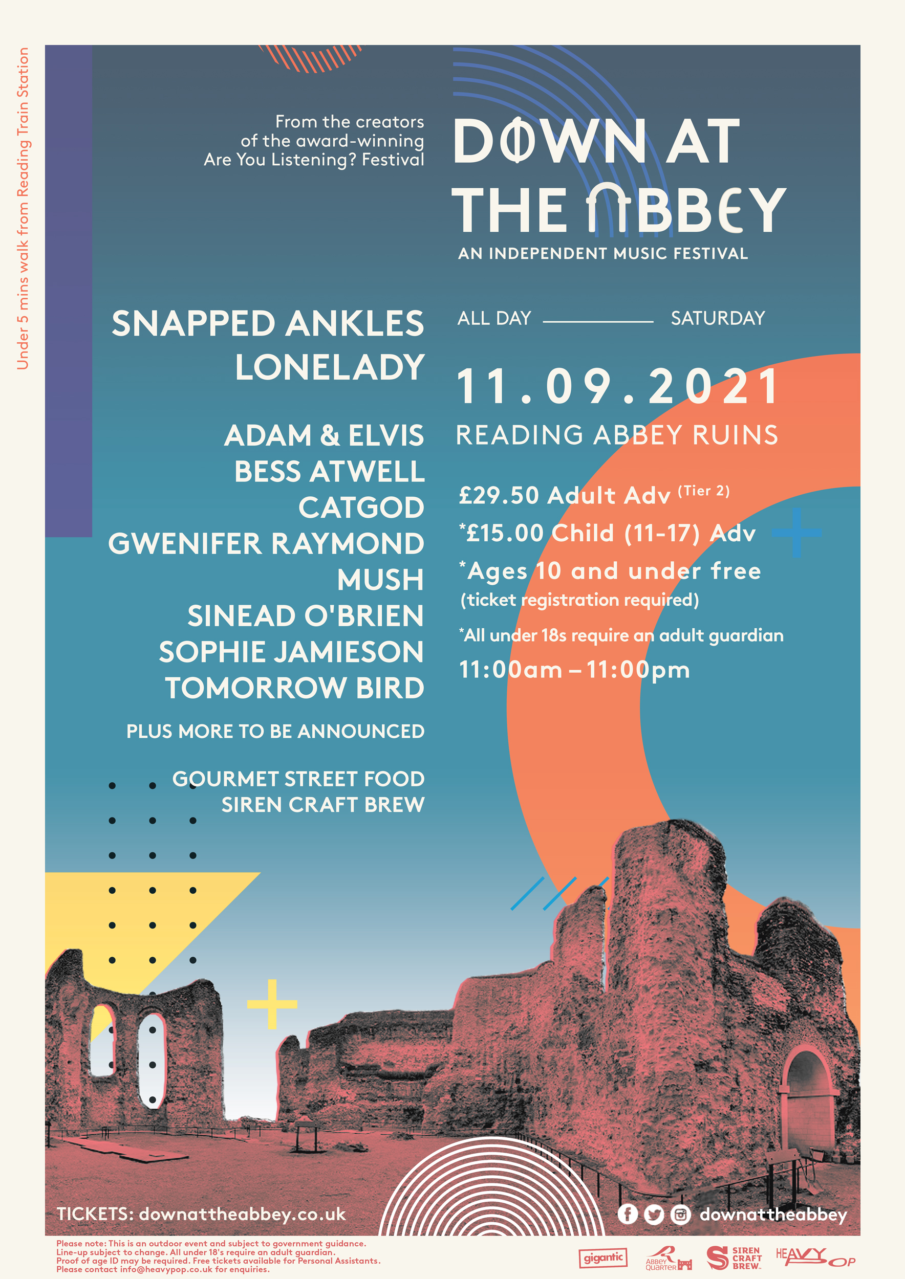 Down at the Abbey first line-up poster
