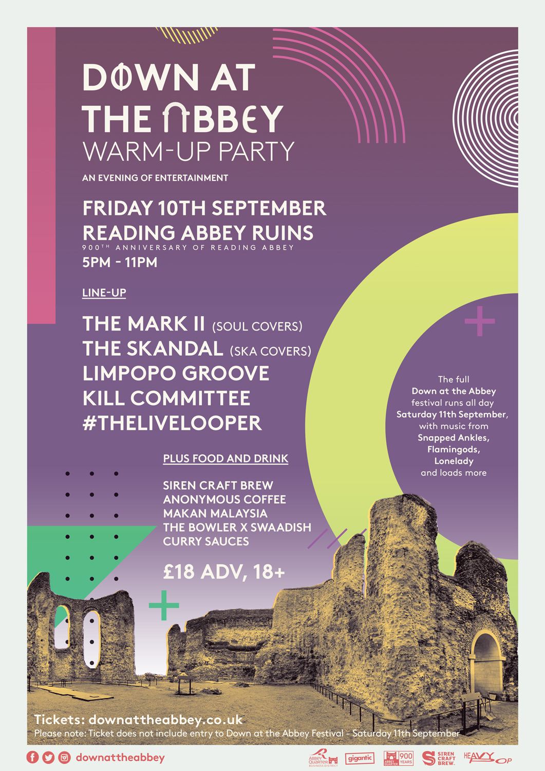 Down At The Abbey Friday Warm-Up Poster